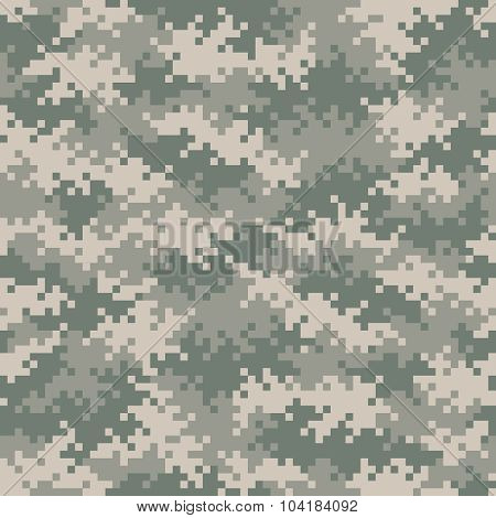 Military Camouflage Pixel Pattern Seamlessly Tileable