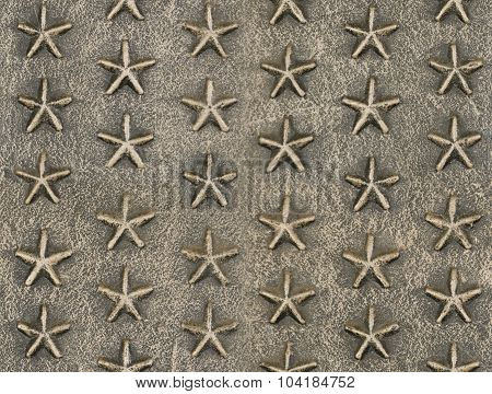 Metallic Star Relief Pattern Texture