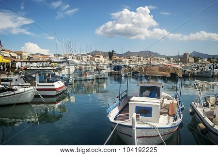 Port on a greek island