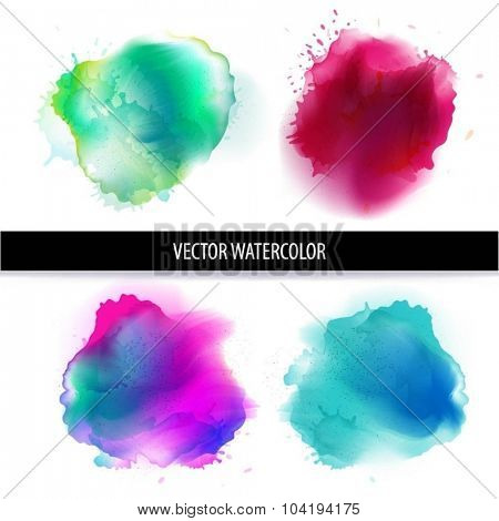 Watercolor stain. Abstract watercolor splash.