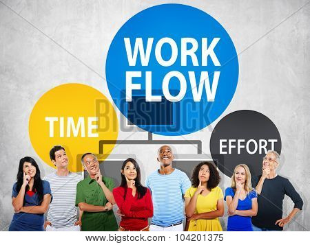 Workflow Effort Implement Efficiency Business Concept