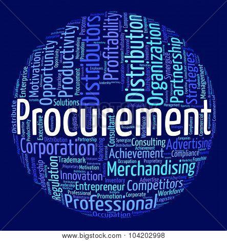 Procurement Word Means Procures Attainment And Procurements
