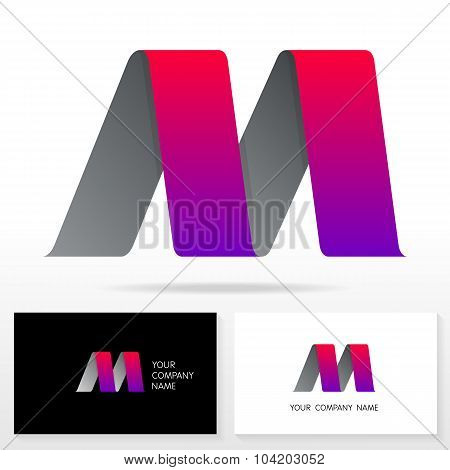 Letter M logo icon design template elements - Illustration.