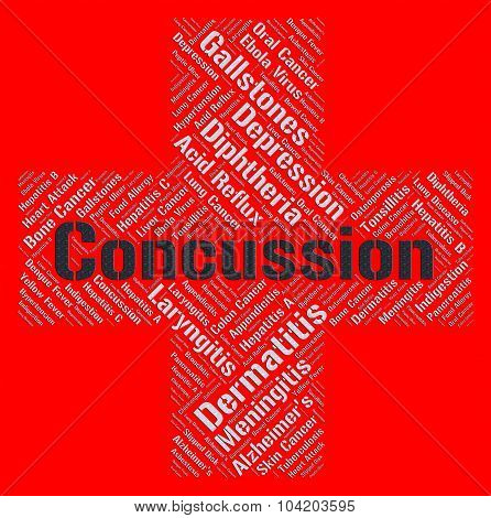 Concussion Word Means Brain Injury And Attack