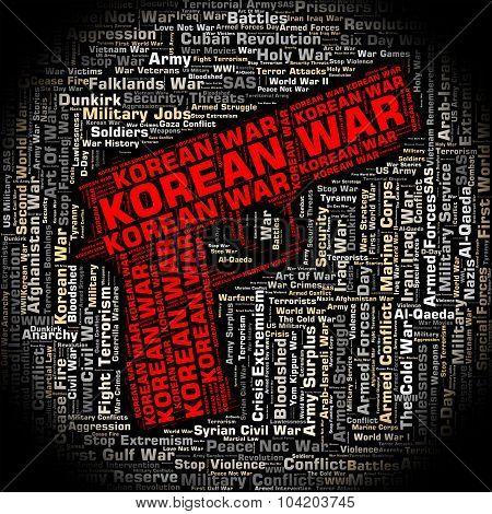 Korean War Shows Pusan Perimeter And Bloodshed