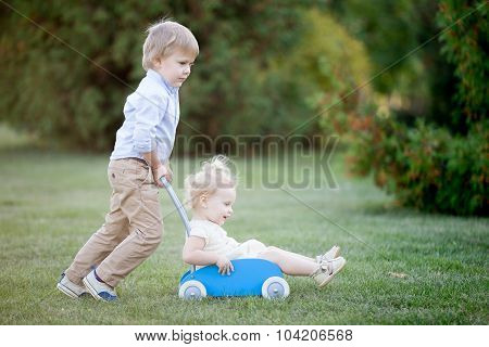 Siblings Playing Together
