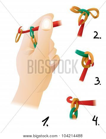 The Process Of Weaving Bracelet Gum