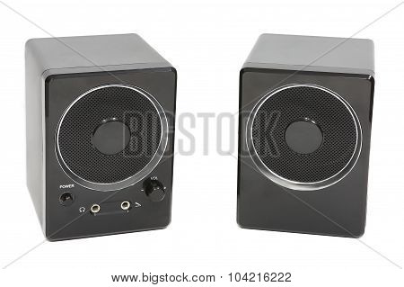 Loudspeakers sound for the computer on a white background