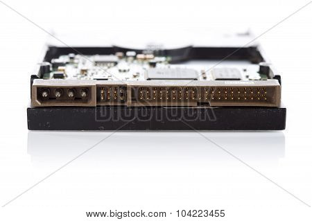Close Up Conector Pin Of  Harddisk Drive