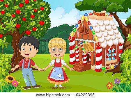 Classic children story. Hansel and Gretel