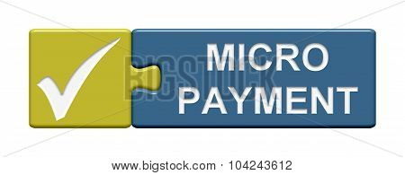 Puzzle Button Showing Micro Payment