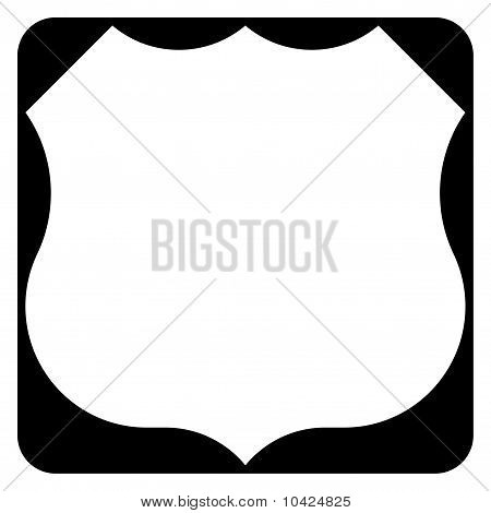 Blank American Highway Or Route Sign