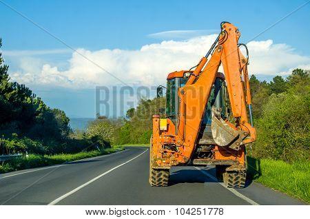 Driving Bulldozer Digger Scraper  - Construction Sites Vehicles