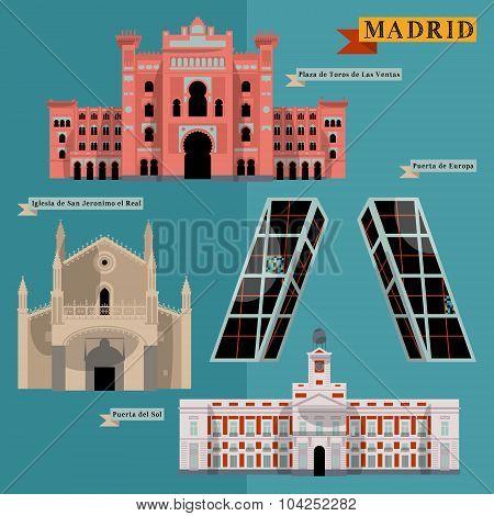 Sights Of Madrid. Spain, Europe.