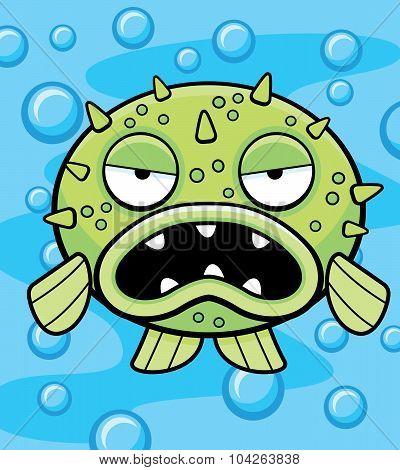 Blowfish Underwater