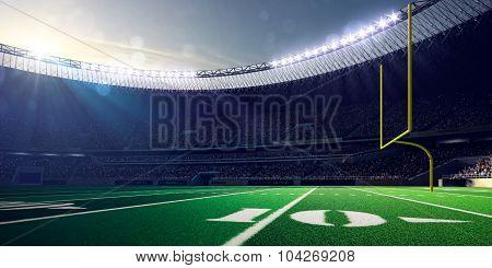 Football Arena Stadium Day render blue