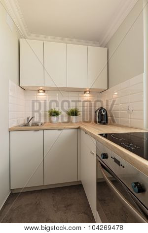 Creamy And Modern Cooking Space