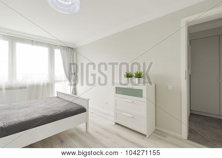 Bedroom Designed In Minimalist Colors