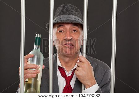 Business man drunk in jail