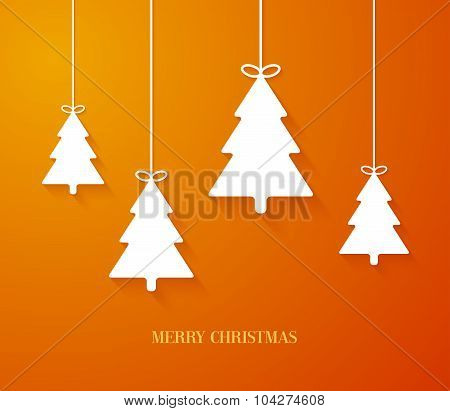 Hanging Paper Christmas Tree Ornaments.