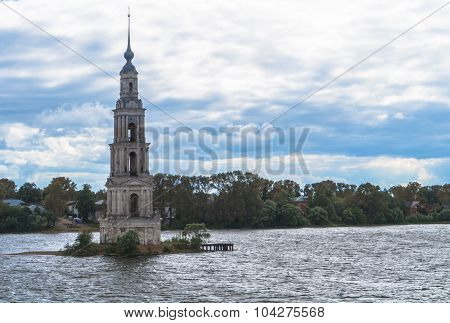Kalyazin Bell Tower submerged in reservoir