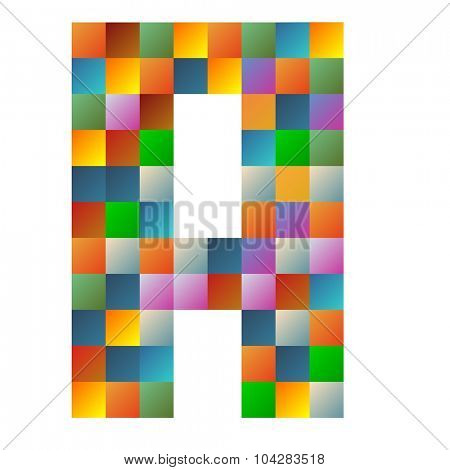 A alpha letter rainbow colorful sparkling vector illustration