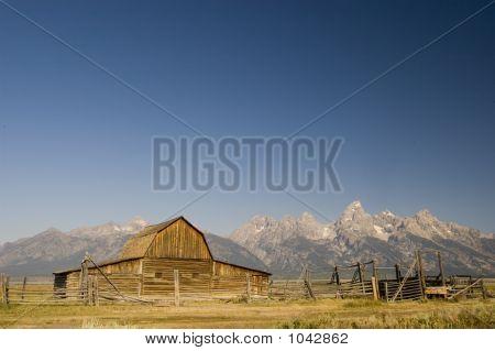 Mormon Barn And The Tetons