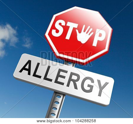 Allergy stop allergies and allergic reactions hypersensitivity disorder of the immune system  asthma attack hay fever poster