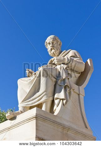 The statue of Plato, Academy of Athens, Greece. poster