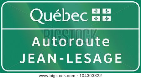 Quebec Autoroute Jean-lesage