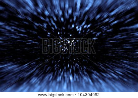 Abstract space wars time travel. Star hyperspace future warp