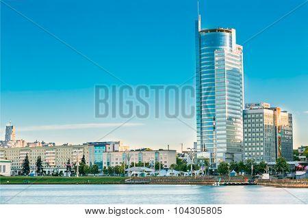 Business Center  -Skyscraper on Pobediteley Avenue in district N