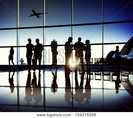 Business Team Airport Journey Travel Concept