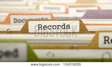 Records Concept on Folder Register.