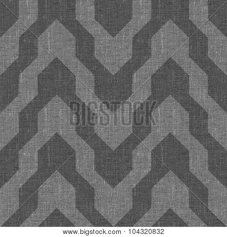 Pattern With Zig Zag In Grey Color