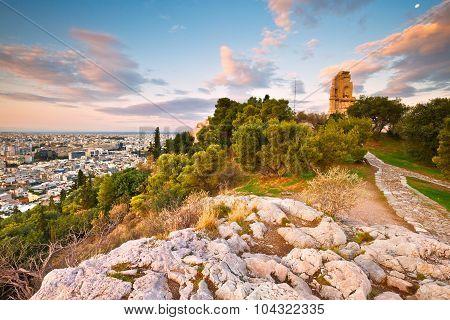 Filopappou hill, Athens.
