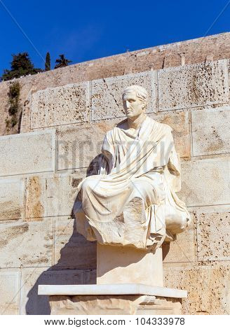 Statue of Menander, Theatre of Dionysus, Athens, Greece