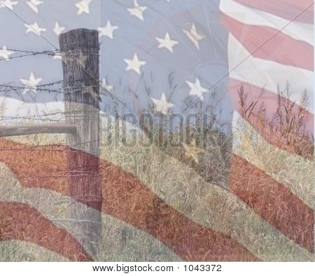 Flag Fence And Wheel 3