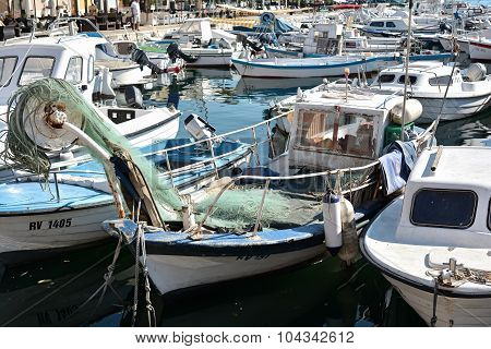 the port of Rovinj