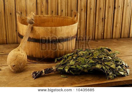 Traditional Equipment For Russian Bath