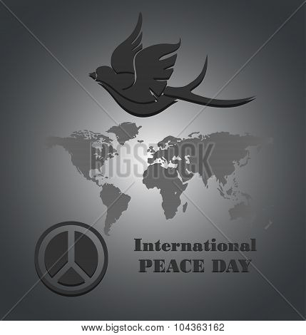 Peace dove for International Peace Day poster