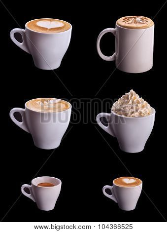 Six coffee cup set