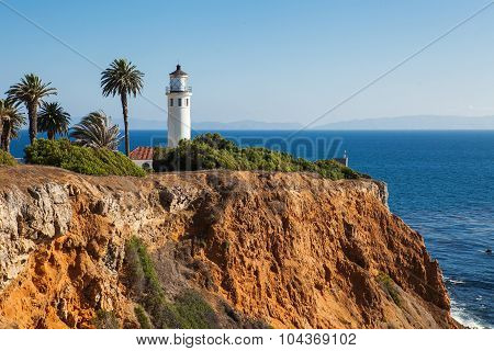 Beautiful Landscape of Point Vicente Lighthouse. Rancho Palos Verdes, California, USA.