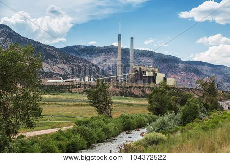 Coal Burning Power Plant In Central Utah