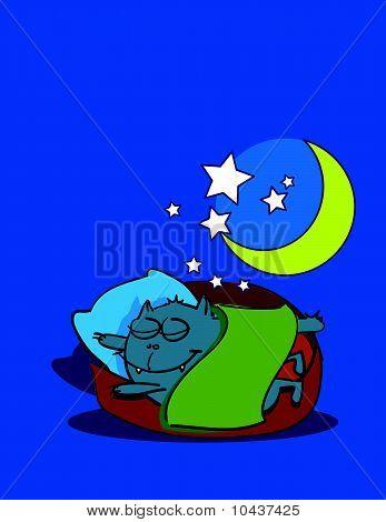 dreaming kitten