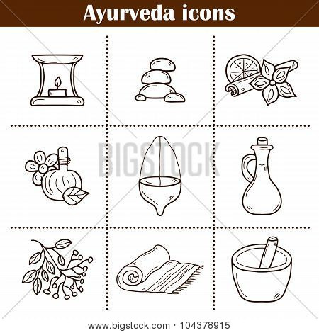 Ayurvedic icons