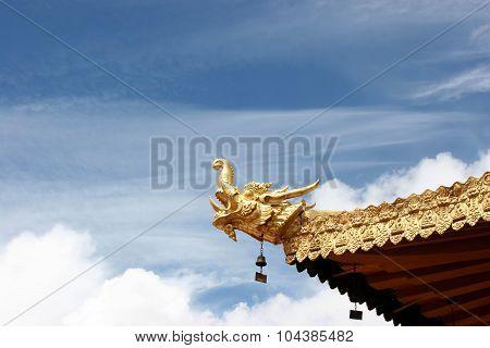Dragon Head Decoration Of Jokhang Temple
