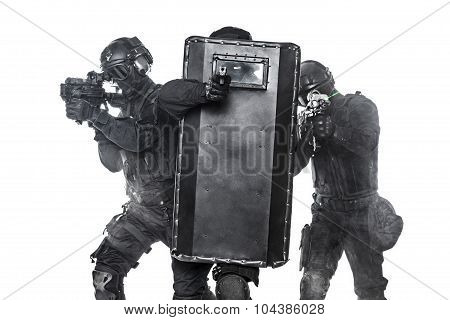 Police officers SWAT