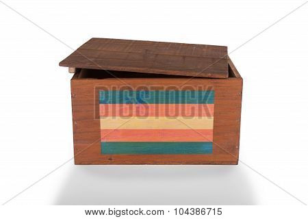 Wooden Crate Isolated On A White Background