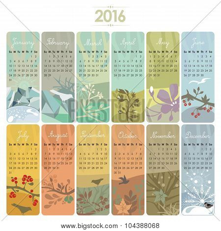 2016 Calendar Set